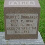 Henry S. Brubaker gravestone