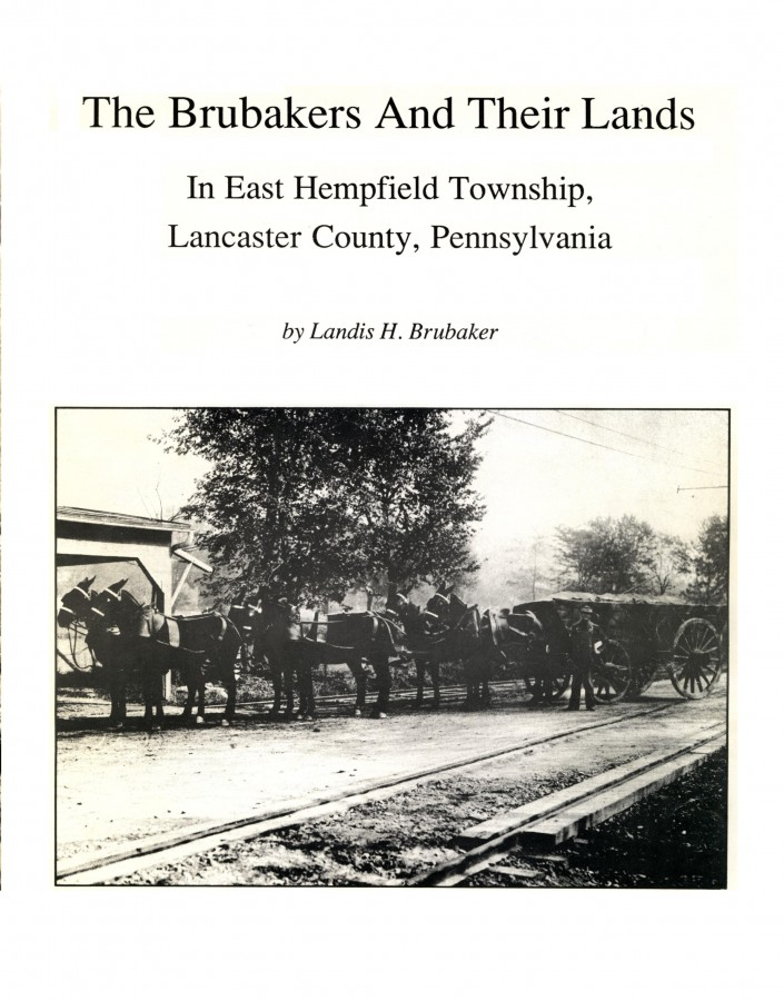 Cover page by Landis H. Brubaker