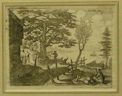 'Near Zurich' - by Matthaus Merian (1593-1650)
