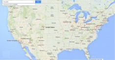 Google Brubaker map