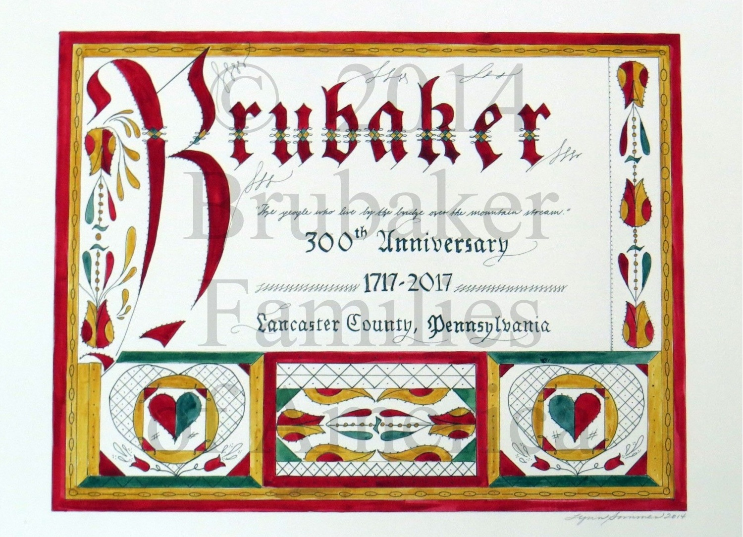 300th Anniversary Limited Edition Commemorative Fraktur
