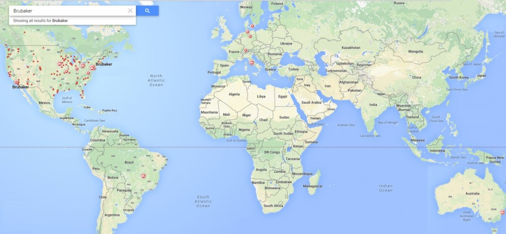 Google Brubaker World Map