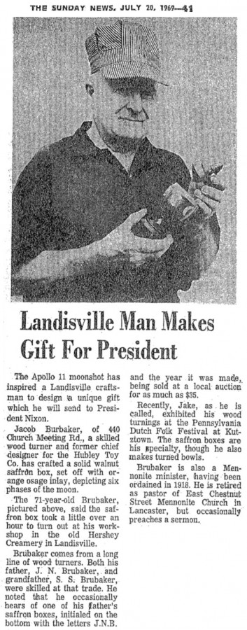 Brubaker, Jacob 1969 news clip